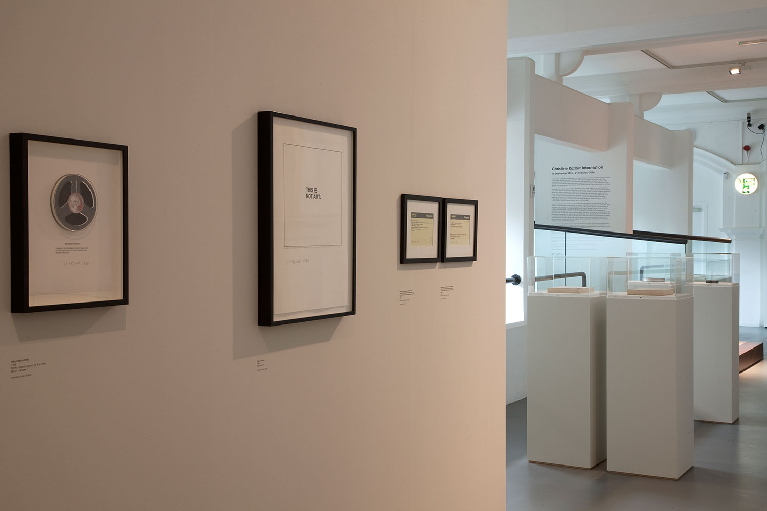 Installation view of Christine Kozlov: Information 4