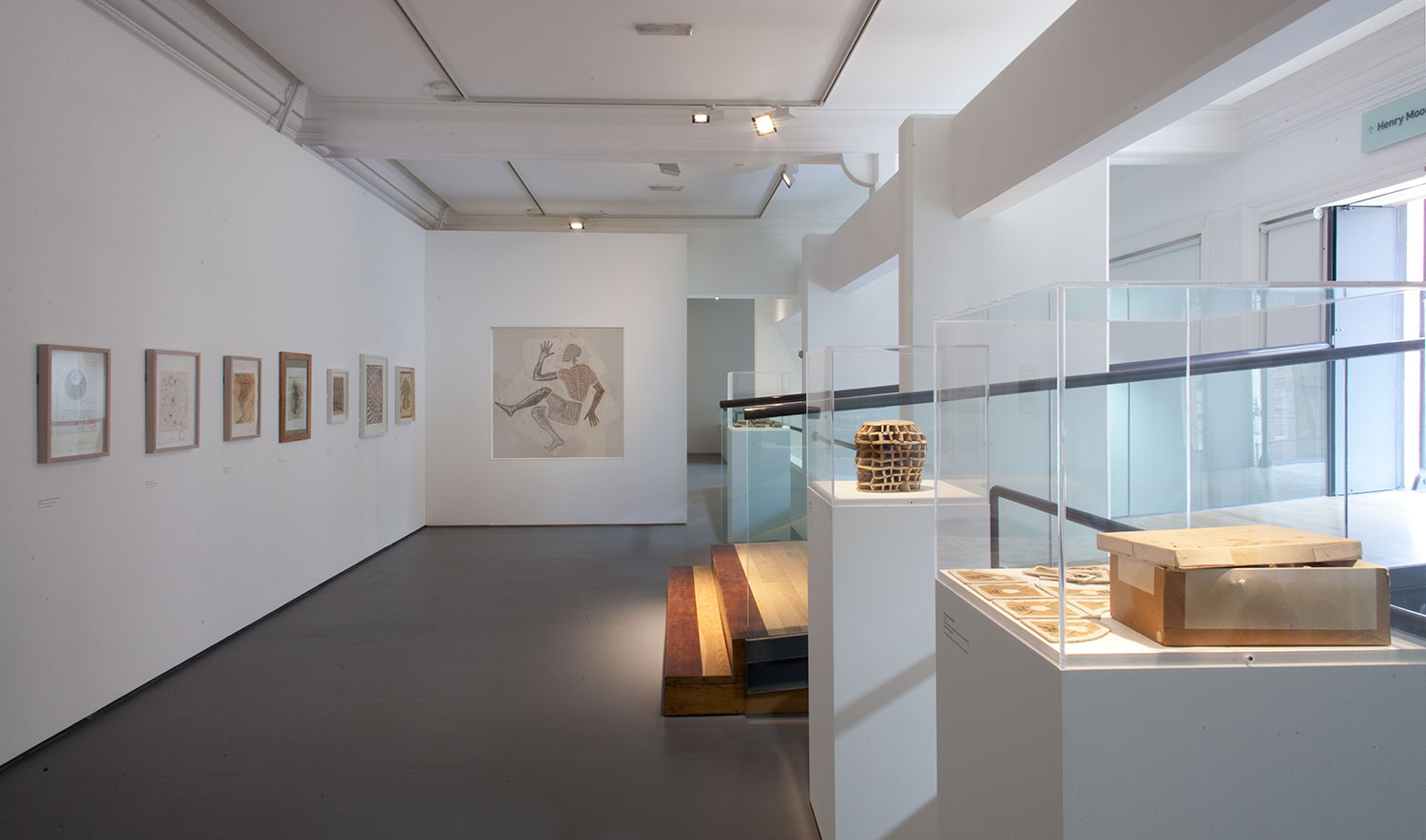 Installation view of the Upper Sculpture Study Gallery