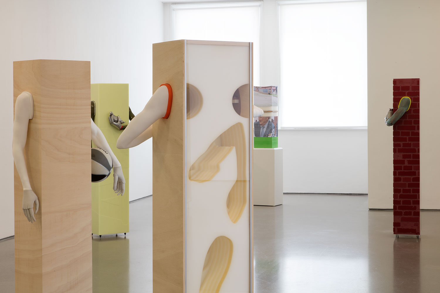 Installation view of Aleksandra Domanović: Votives (4)