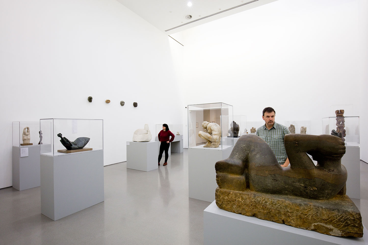 Installation view of Becoming Henry Moore (G2 1)
