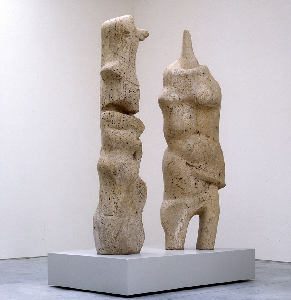 Henry Moore, 'Two Standing Figures' 1981
