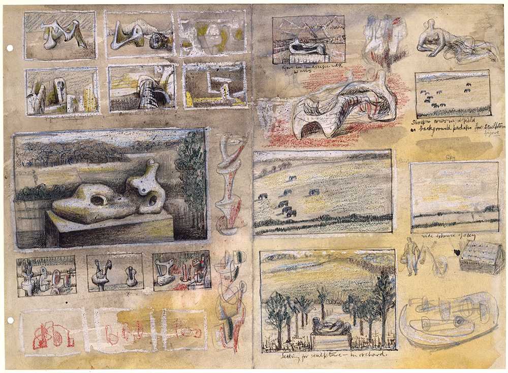 Henry Moore, 'Ideas for Sculpture in Landscape' c.1938
