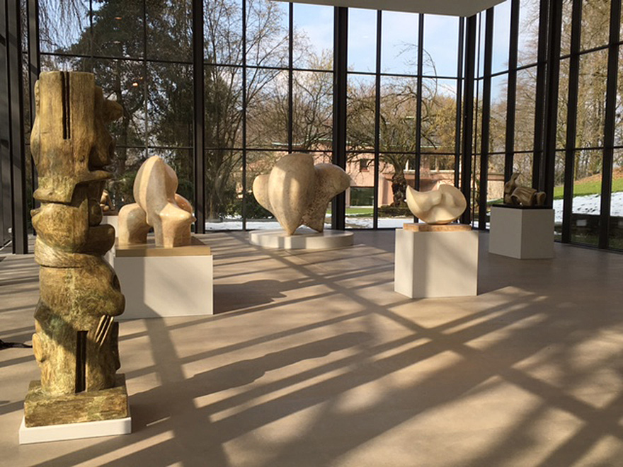 Henry Moore: Plasters in the gallery at Wuppertal