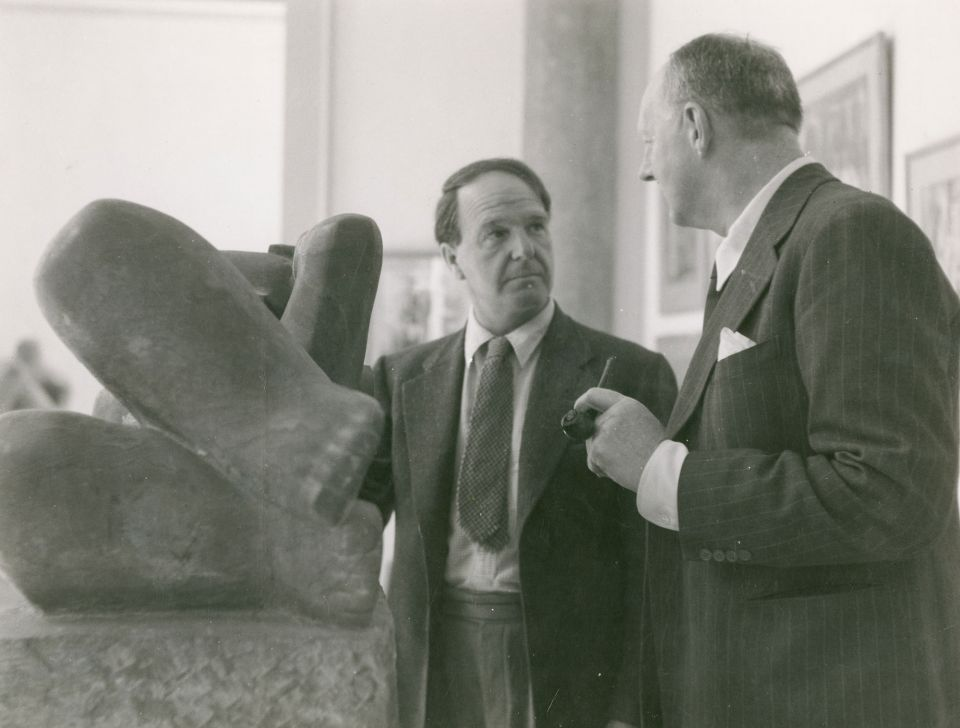 Henry Moore at the 1948 Venice Biennale, British Pavilion