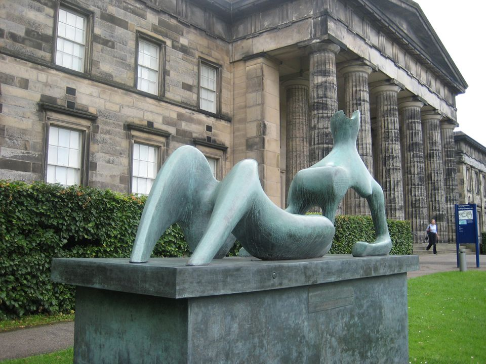 The original cast of Reclining Figure: Festival at the Scottish National Gallery of Modern Art, Edinburgh.