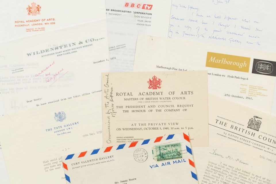 Letters to galleries and dealers