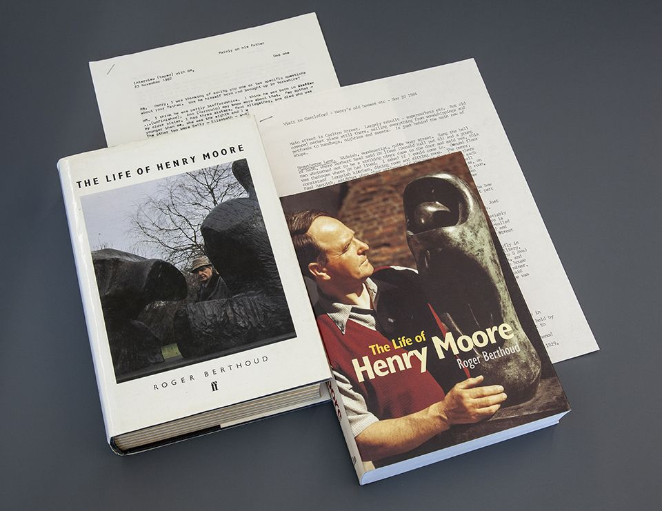 Roger Berthoud documents relating to Henry Moore's biography