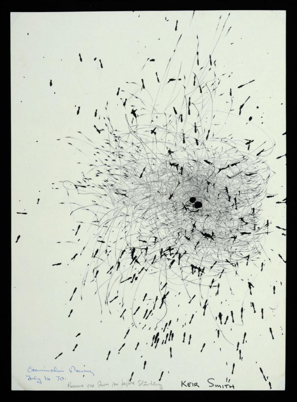 Keir Smith, drawing from series made with a machine (1969-1970) Archive reference: 2012.27/C/1