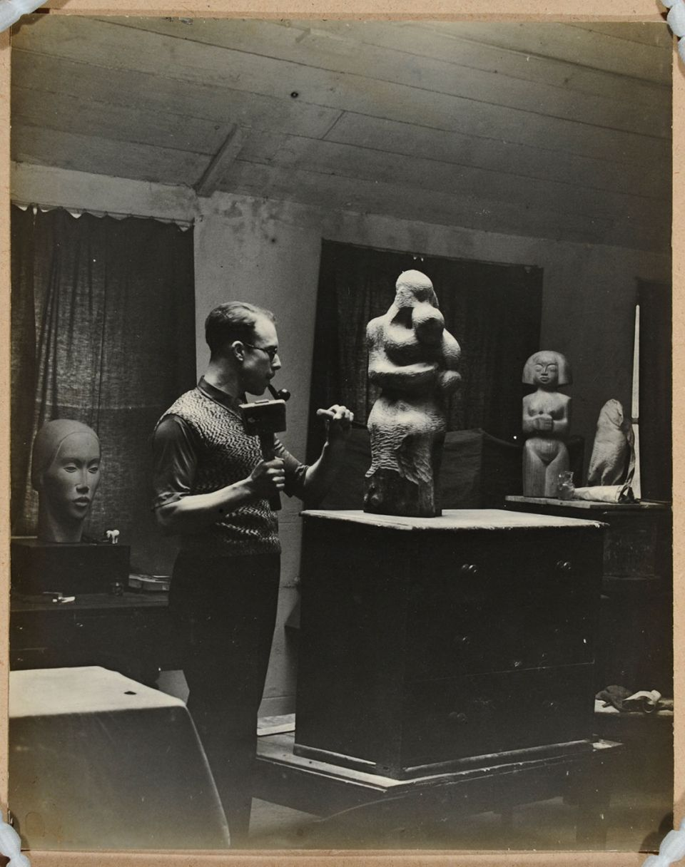 Trevor Tennant at work in his studio
