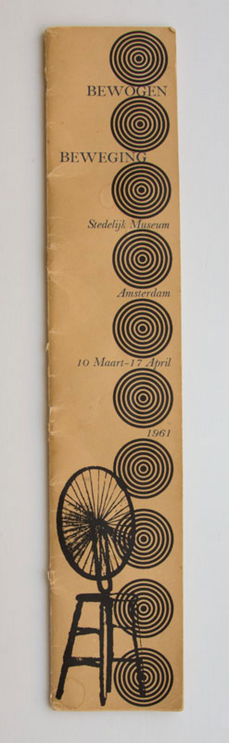 Catalogue cover for 'Bewogen Beweging' (1961)