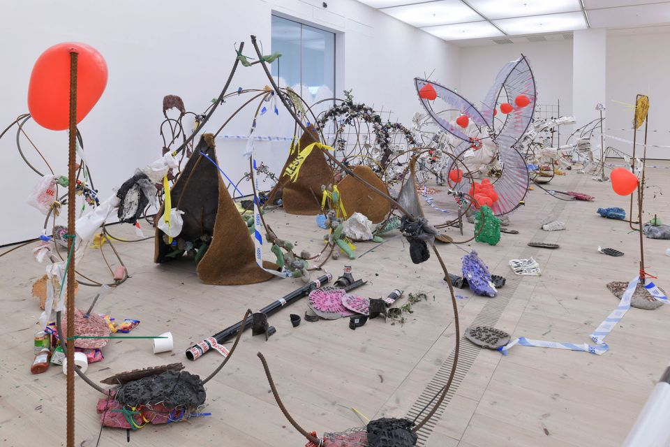 Michael Dean, Having you on, 2018 (installation view at BALTIC Centre for Contemporary Art, Gateshead)