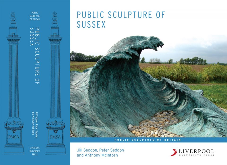 Cover detail of 'The Public Sculpture of Sussex'. Partly funded by a Henry Moore Grant