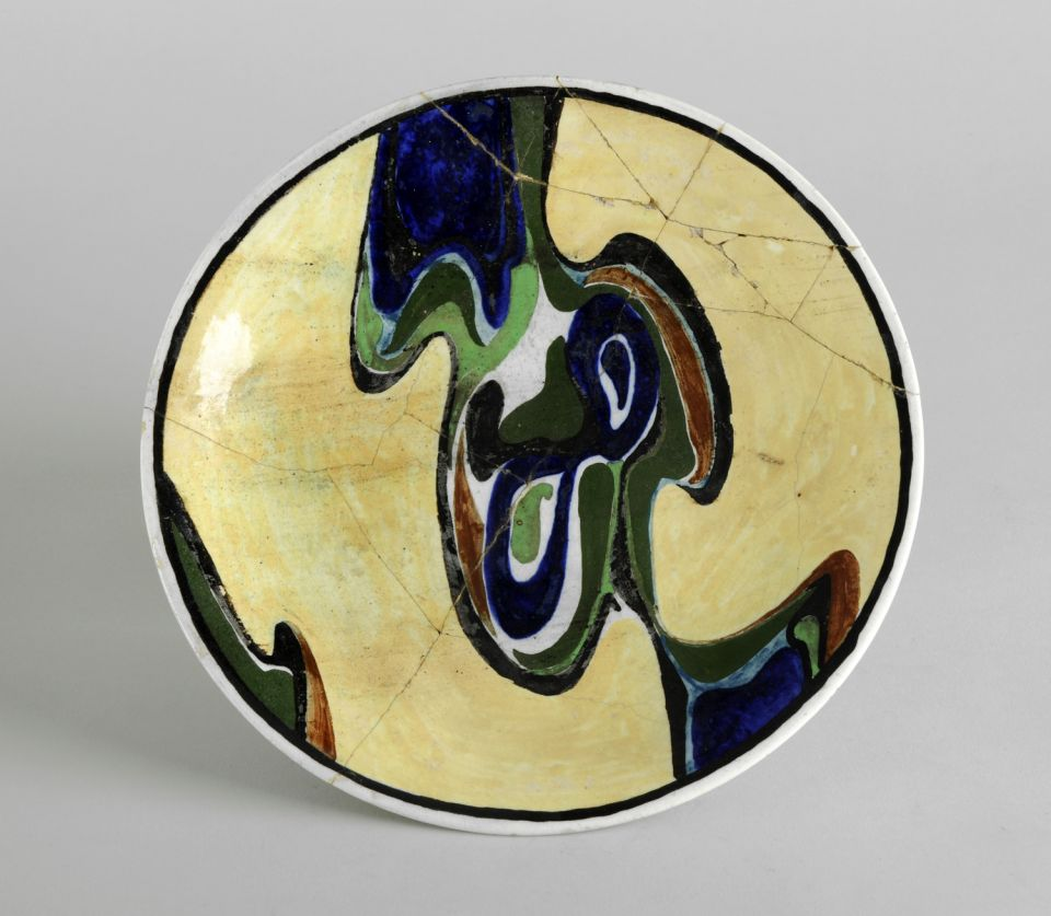 Henry Moore Decorated plate