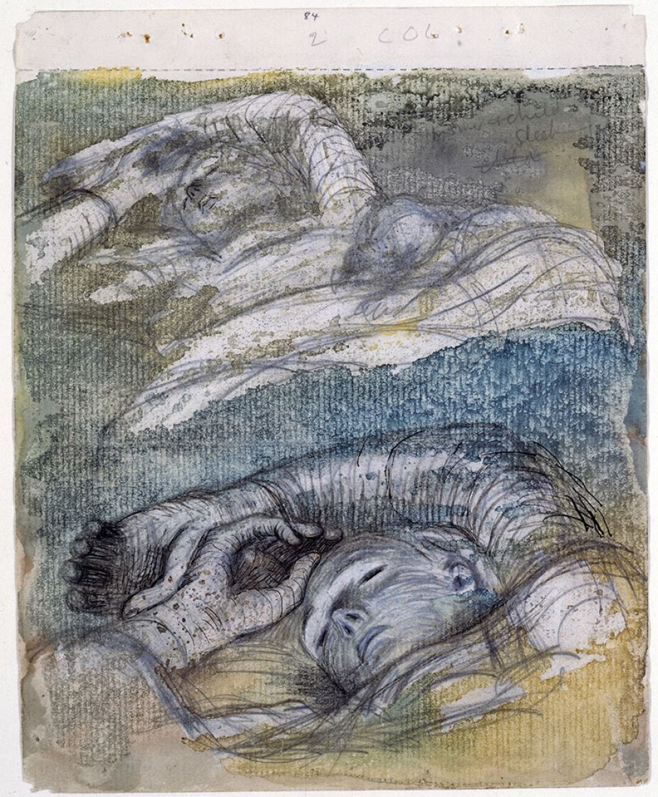 Henry Moore, Study for Shelter Sleepers 1941