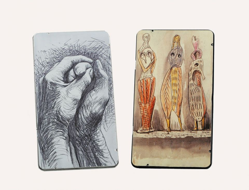 Artists Hands Pencil Tin