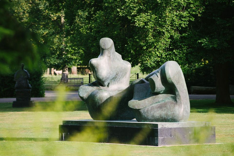 Henry Moore, 'Two Piece Reclining Figure: Points' 1969