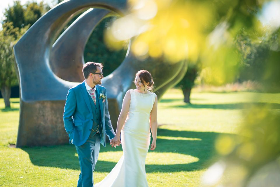 Bride and Groom with The Arch
