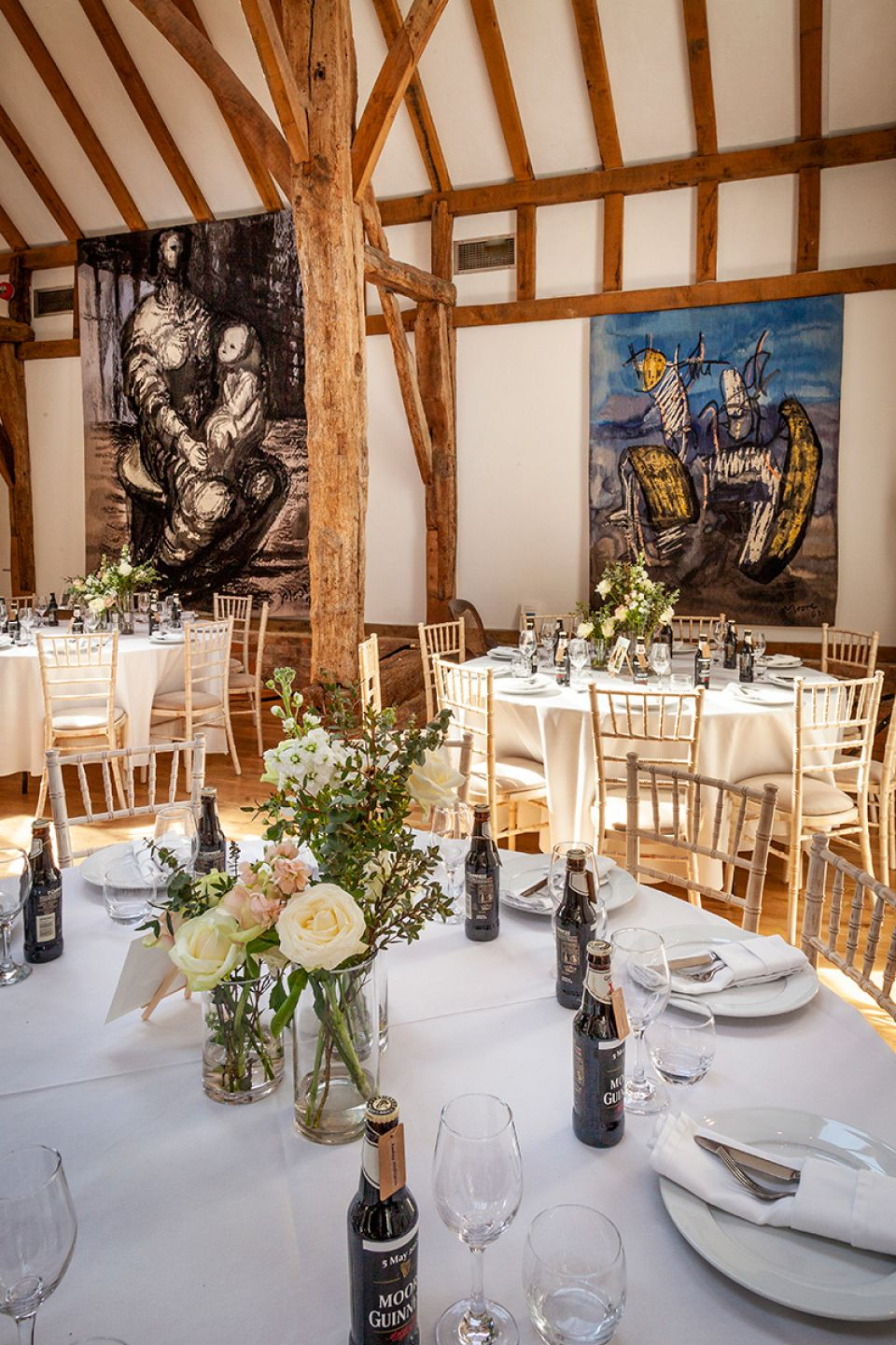 The tapestries as a backdrop to your reception