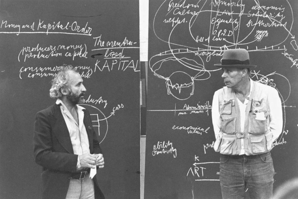 Richard Demarco (left) and Joseph Beuys