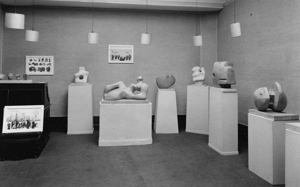 Henry Moore works at the Leicester Galleries, London, 1936