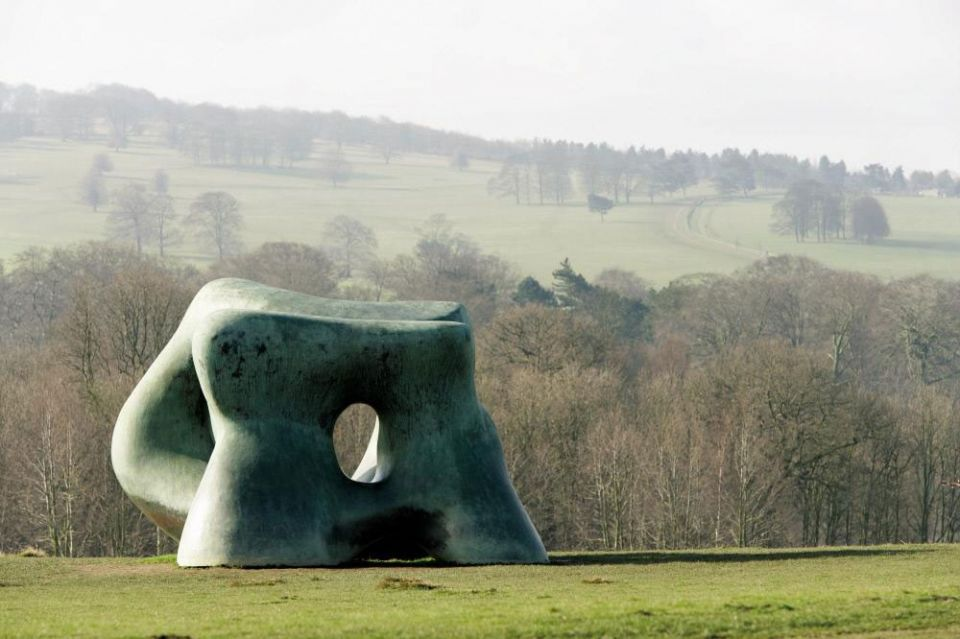 Henry Moore Two Large Forms 1969 bronze
