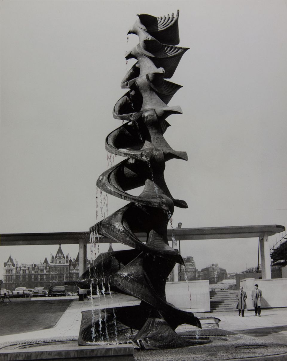 Franta Belsky, 'Shell Fountain' (1961, bronze) situated at European Shell Centre, South Bank, London