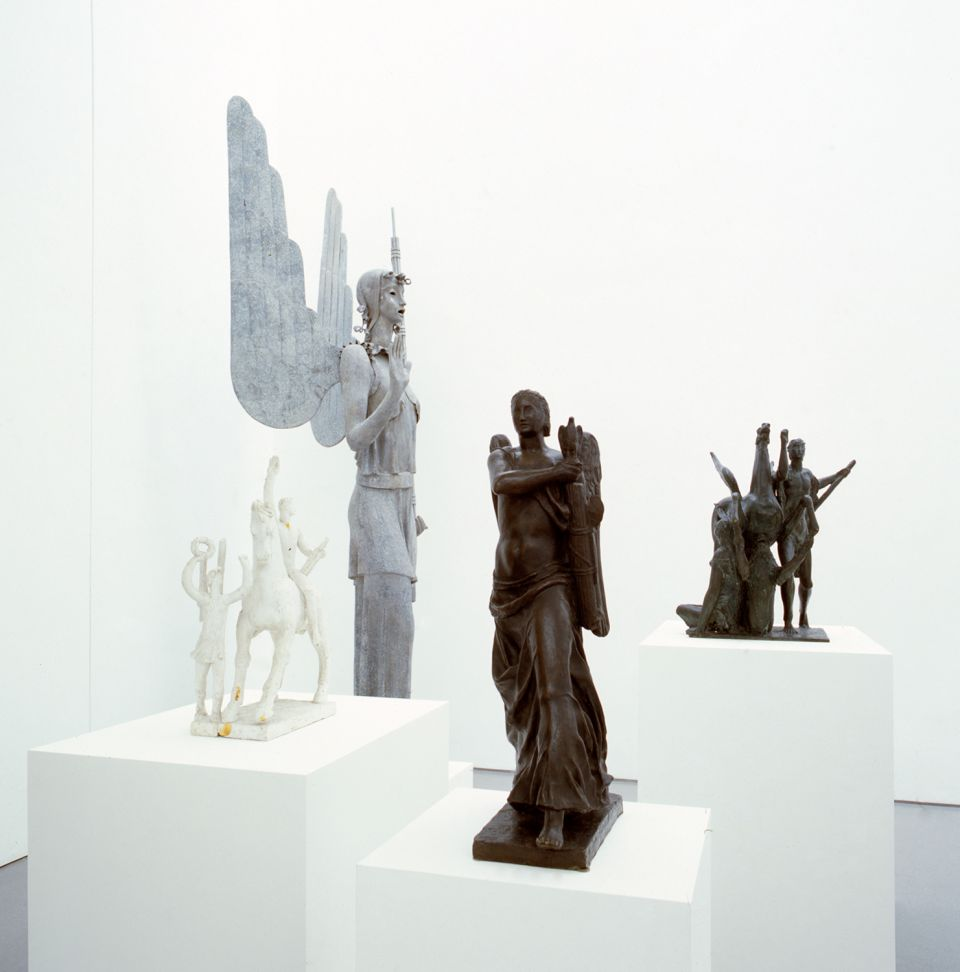 Installation view of Scultura Lingua Morta: Sculpture From Fascist Italy 1
