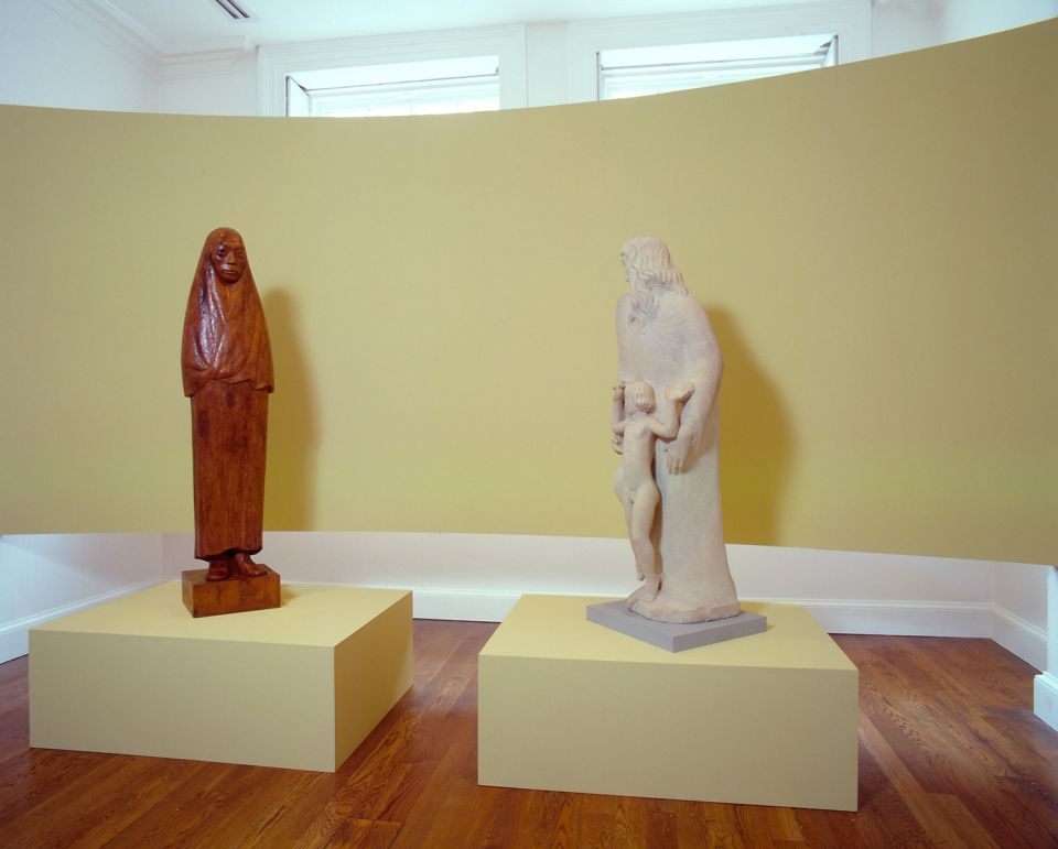 Installation view of Medieval and Modern