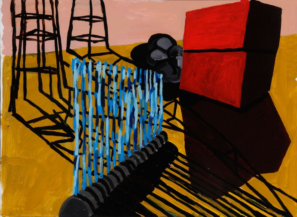 Untitled painting by Phyllida Barlow 1