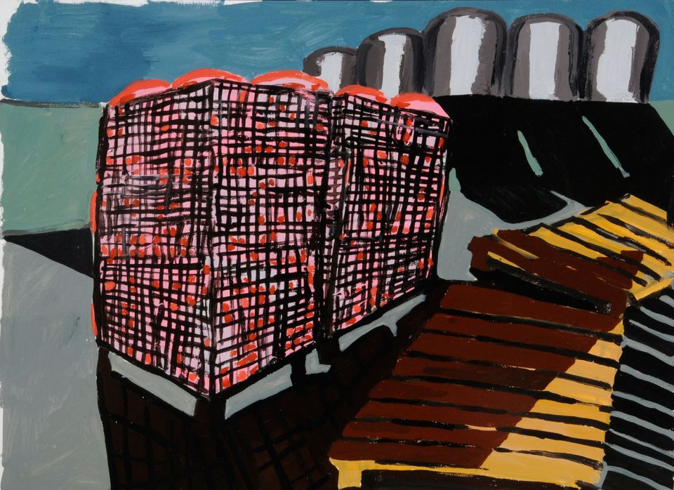 Untitled painting by Phyllida Barlow 2