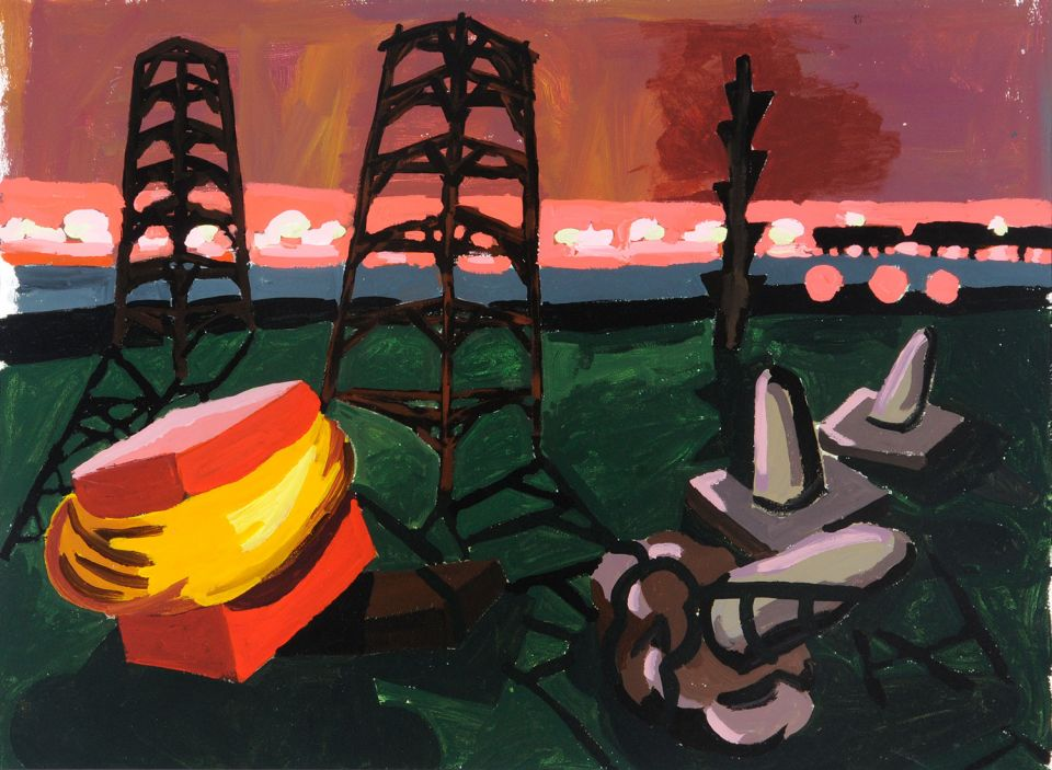 Untitled painting by Phyllida Barlow 3