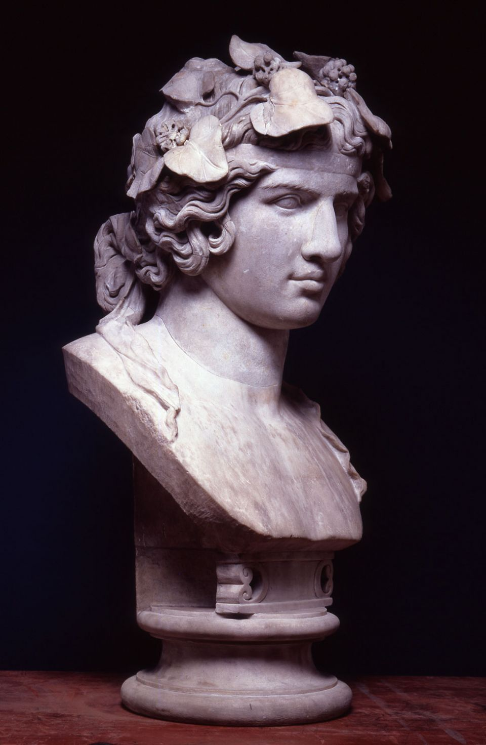 Head of Antinous (c. AD 130-8, Luna marble)