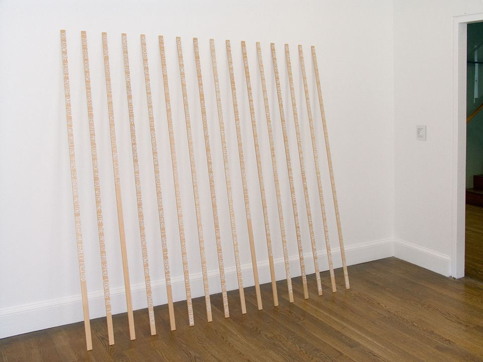 Installation view of Charlotte von Poehl: The Notepiece 2