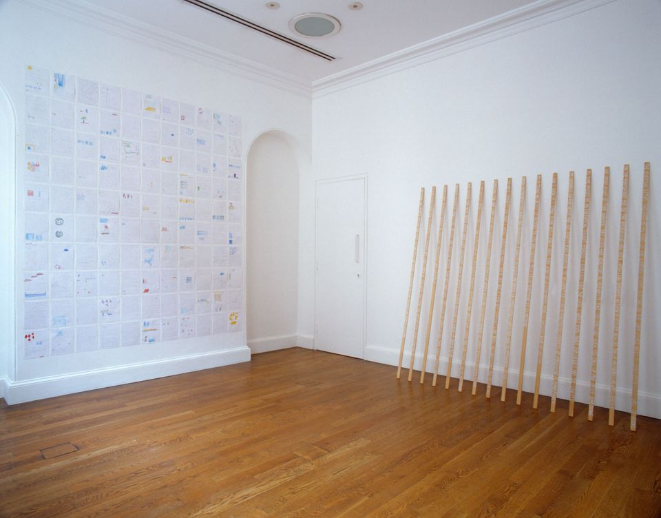 Installation view of Charlotte von Poehl: The Notepiece 4