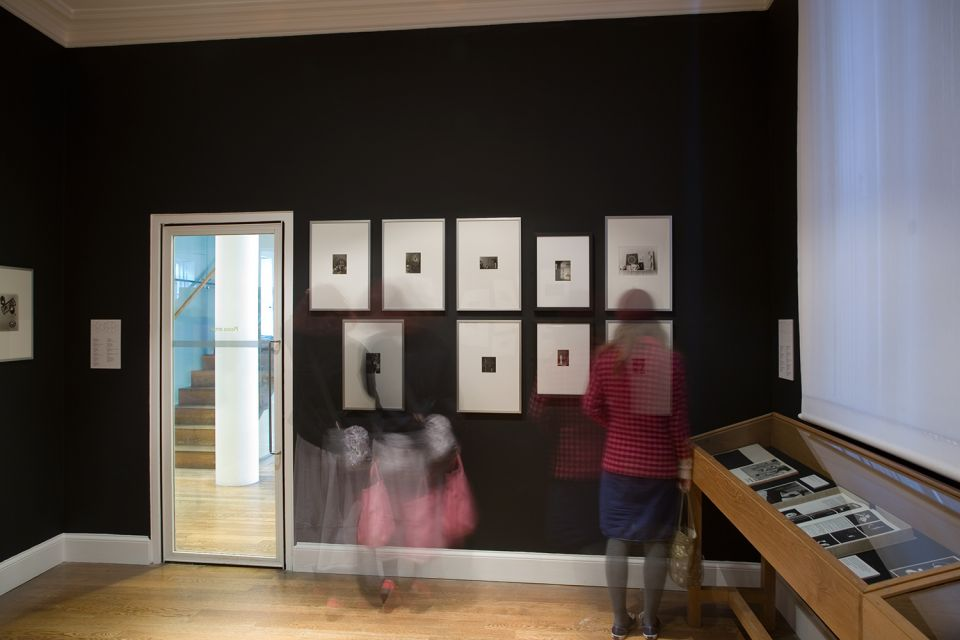 Installation view of Experimental Photography from the Bauhaus Sculpture Workshop 1