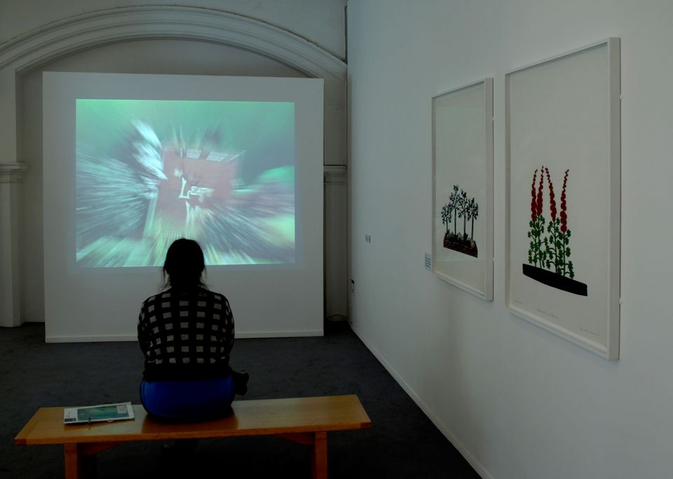 Installation view of By Leafy Ways: Early works by Ivor Abrahams 2