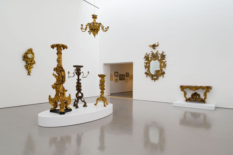 Installation view of Taking Shape: Finding sculpture in the decorative arts 1