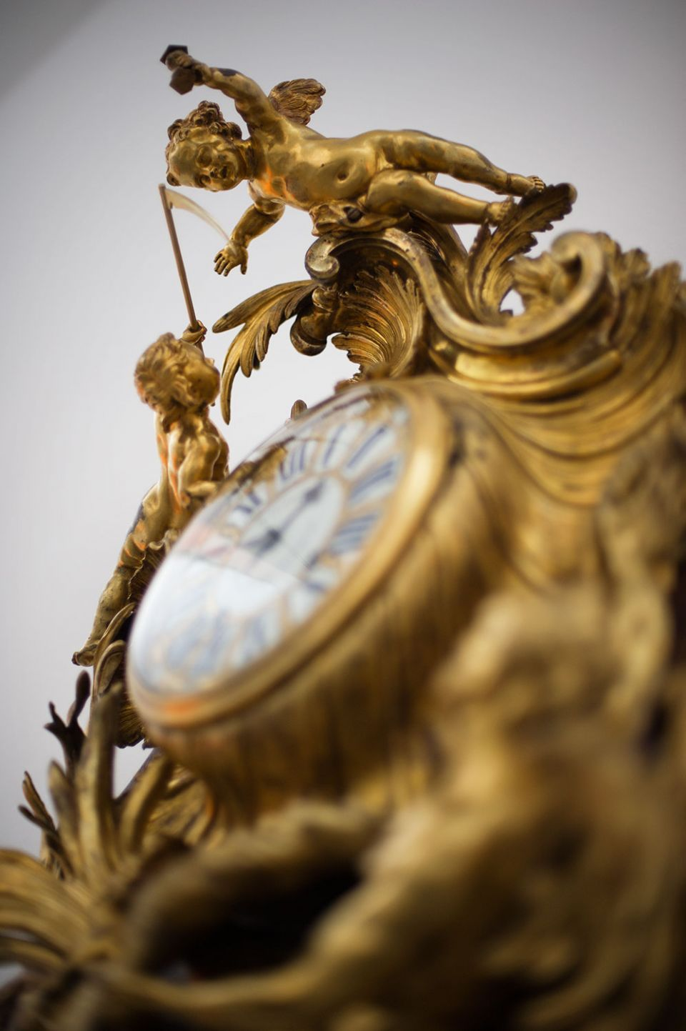 Justre-Aurèle Meissonnier, 'Wall Clock' (c. 1735-40, gilt-bronze, enamelled metal, wood carcass, glass)