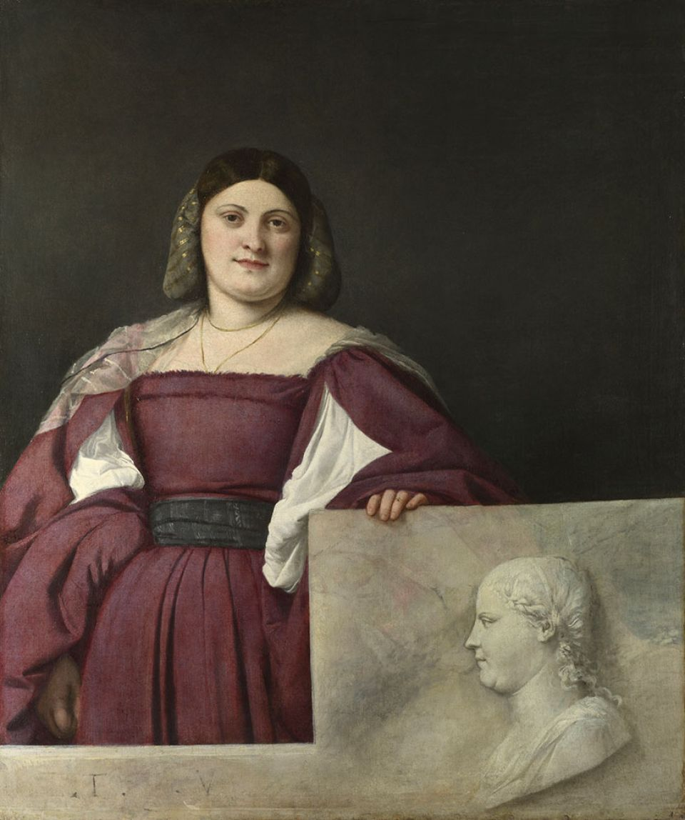 Titian, 'La Schiavona' ('Portrait of a Lady') (c.1510-12, oil on canvas)
