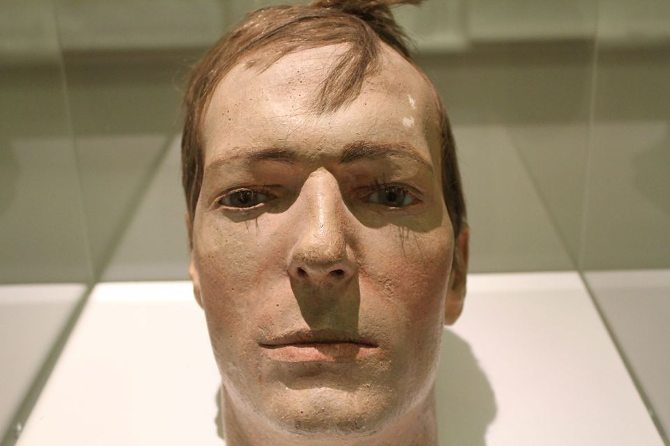 Fibreglass cast of Robin Fletcher's head for the exhibition End of an Era (1975)