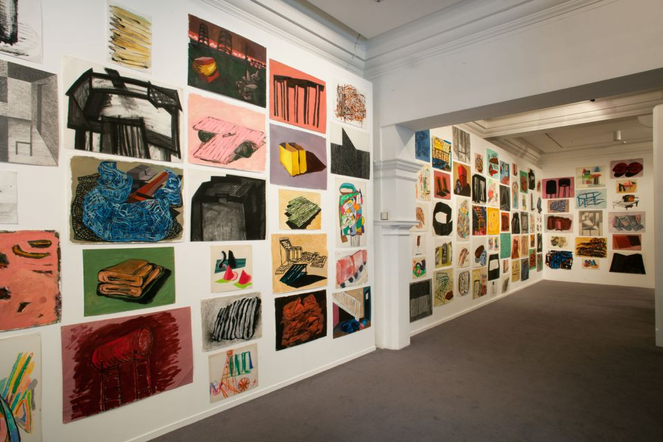 Installation view of Phyllida Barlow: Bad Copies (3)
