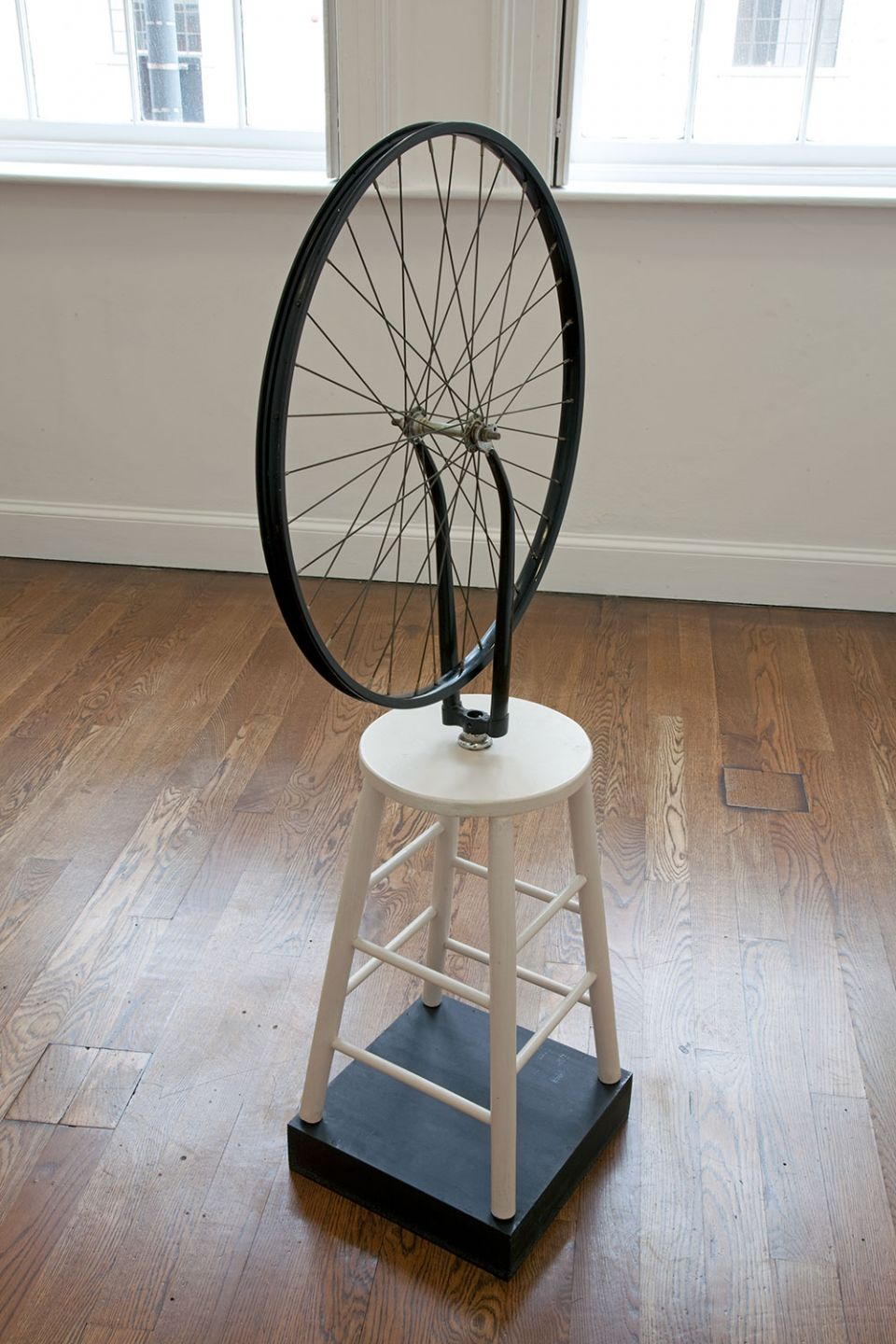 Sturtevant, 'Duchamp Bicycle Wheel' (1969-1973, bicycle wheel on wooden stool)