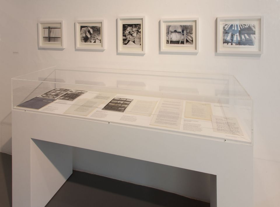 Installation view of Garth Evans: Sculpture Photographs 3