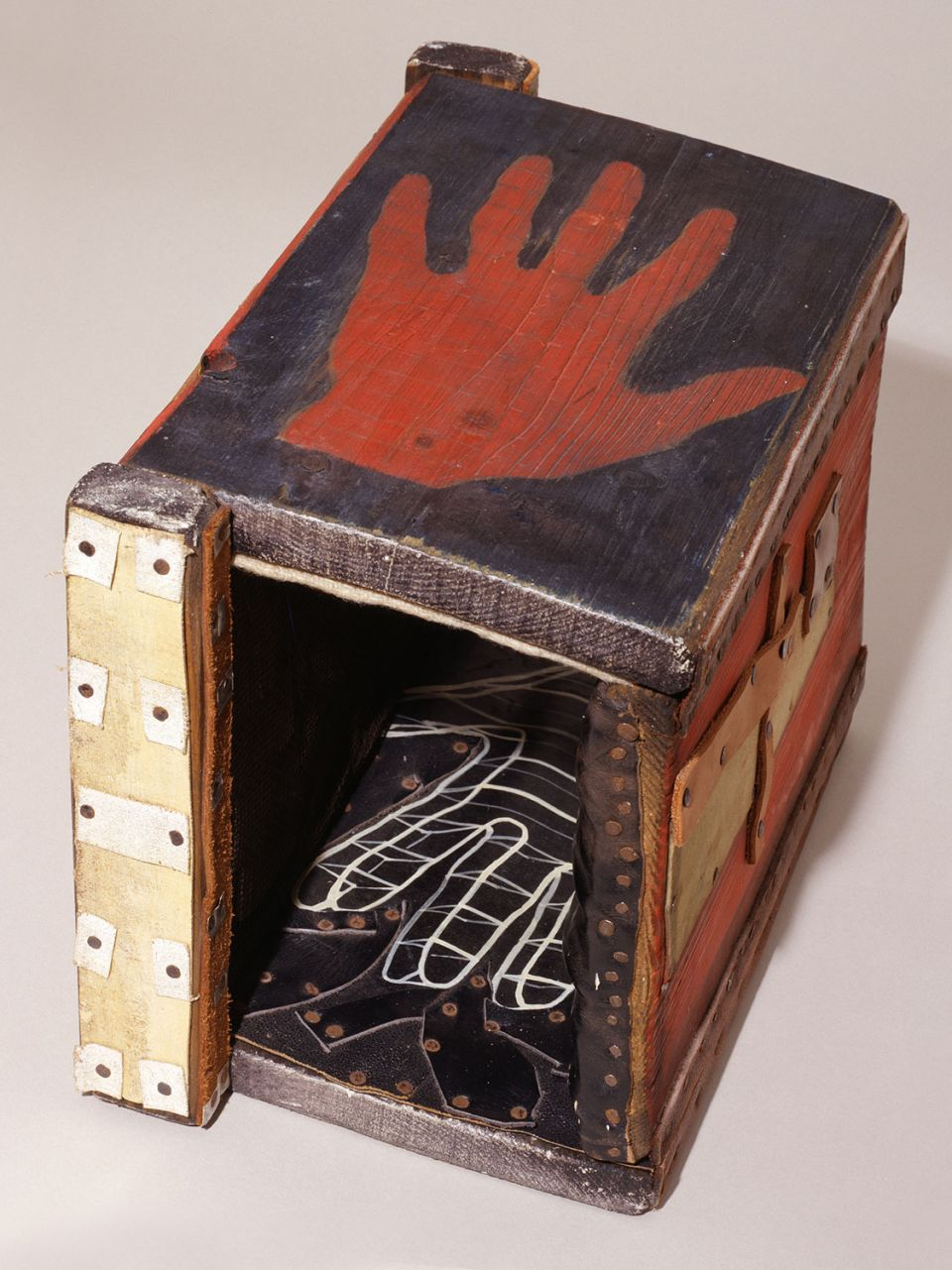 Paul Neagu, 'Tactile Object (Hand)' (1970, wood, metal, plastic, leather, textile, paper)