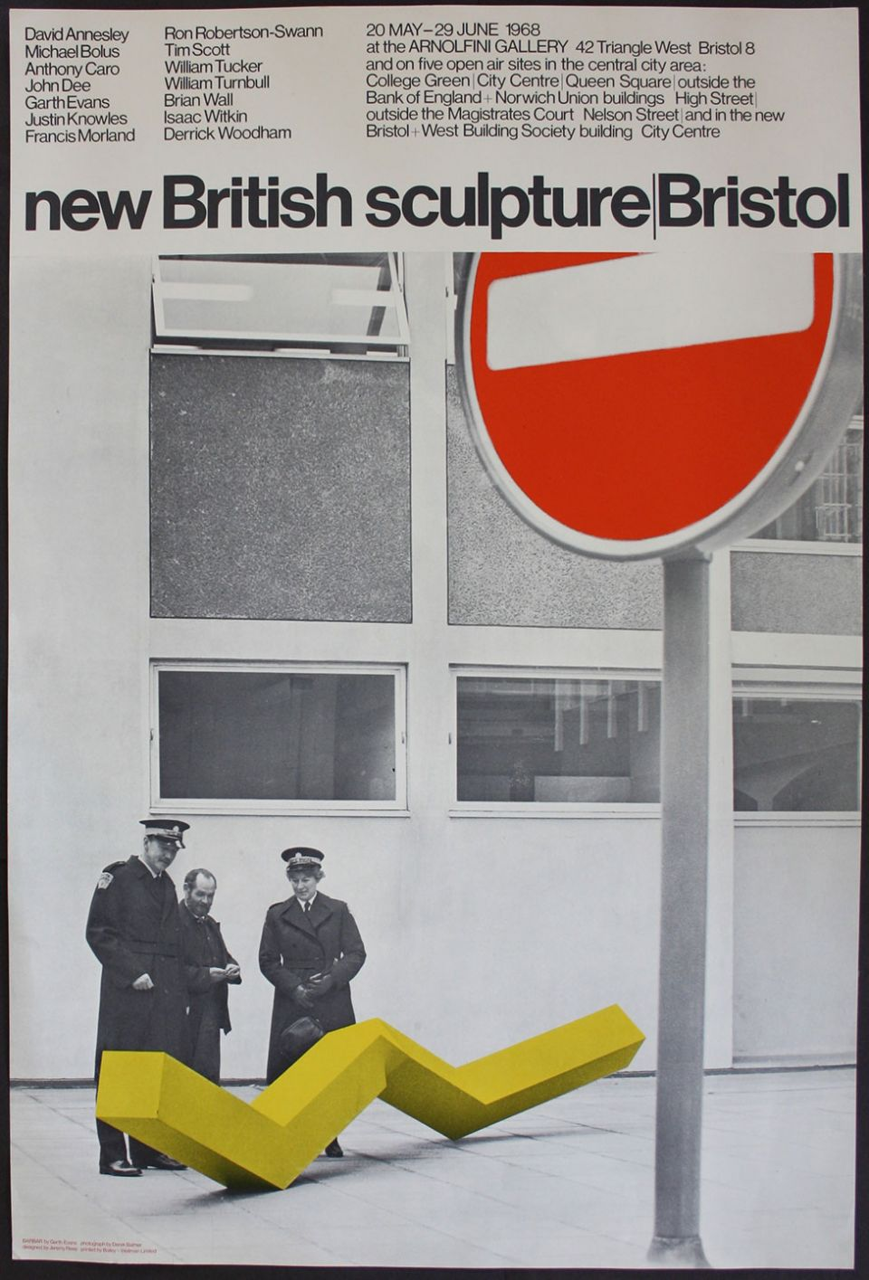 Exhibition poster for new British sculpture | Bristol (1968)
