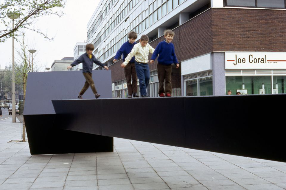 Garth Evans, 'Work for The Hayes, Cardiff' (painted mild steel, length: 12 metres)