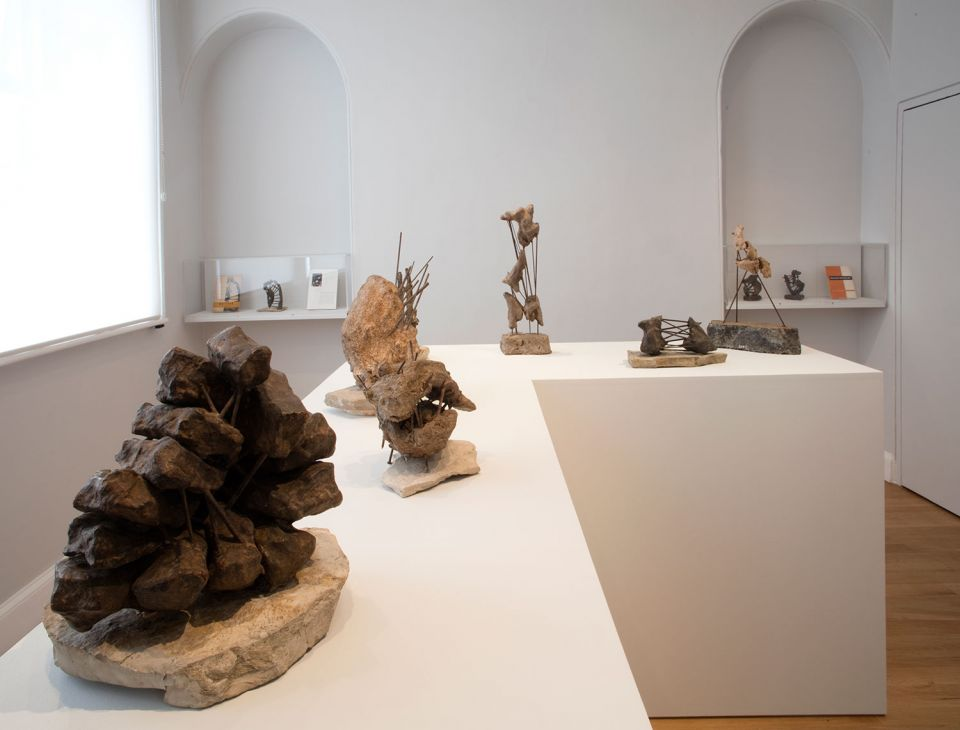 Installation view of Olga Jevrić: Proposals for Monuments 3