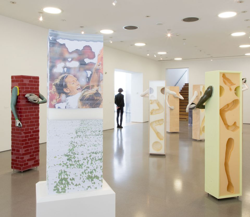 Installation view of Aleksandra Domanović: Votives (1)