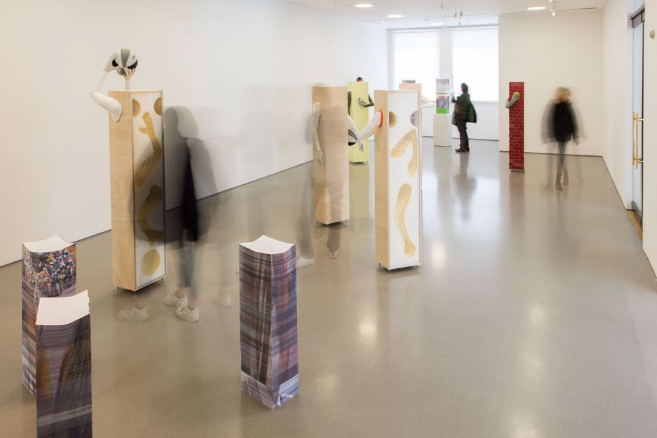 Installation view of Aleksandra Domanović: Votives (2)
