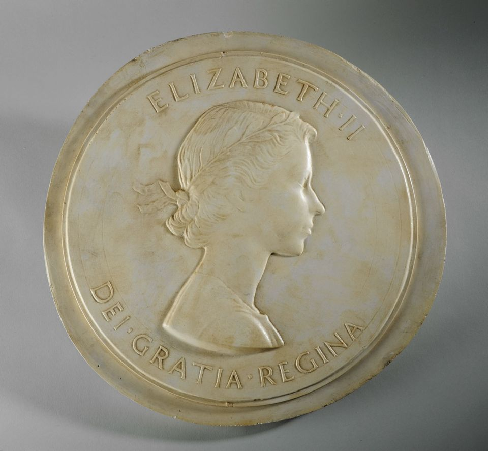 Mary Gillick, Medallion Portrait of Queen Elizabeth II (1952)